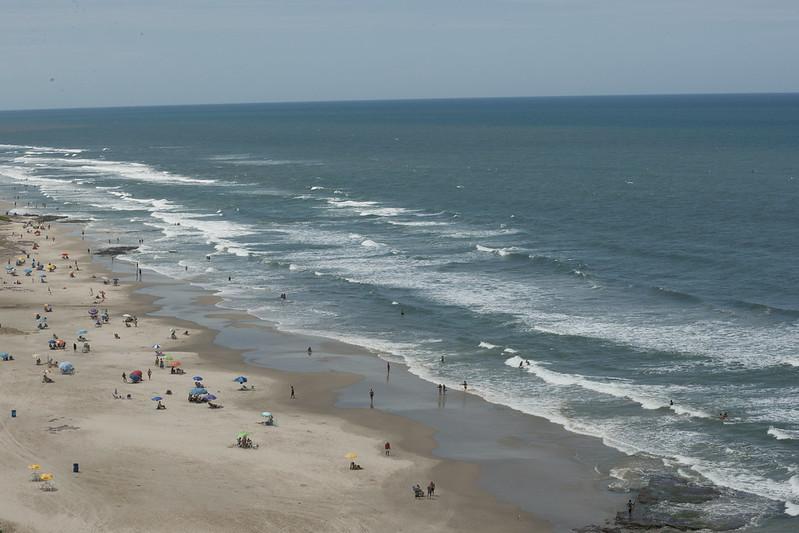 Praia Grande em Torres no Rio Grande do Sul