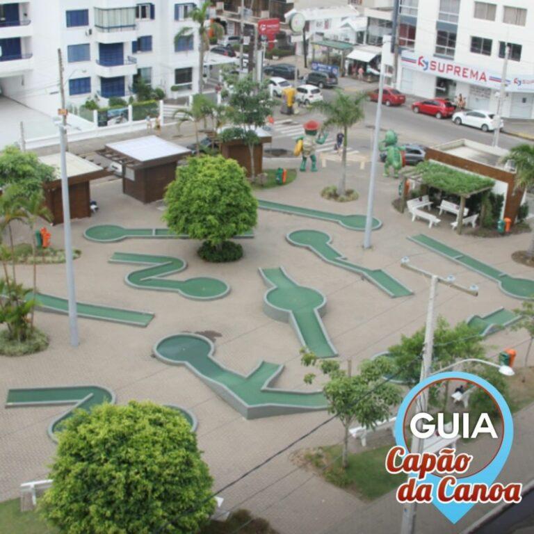 Praça Mini Golfe em Capão da Canoa no Rio Grande do Sul
